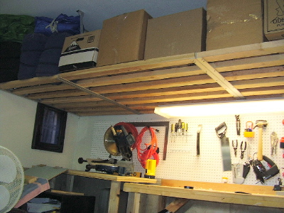 OVERHEAD STORAGE woodworking plans and information at