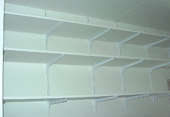 Particle Board Garage Shelves