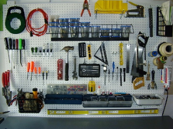 garage pegboard ideas