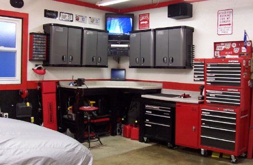 Cool garages workshops or storage ideas show me yours for Design your own garage workshop